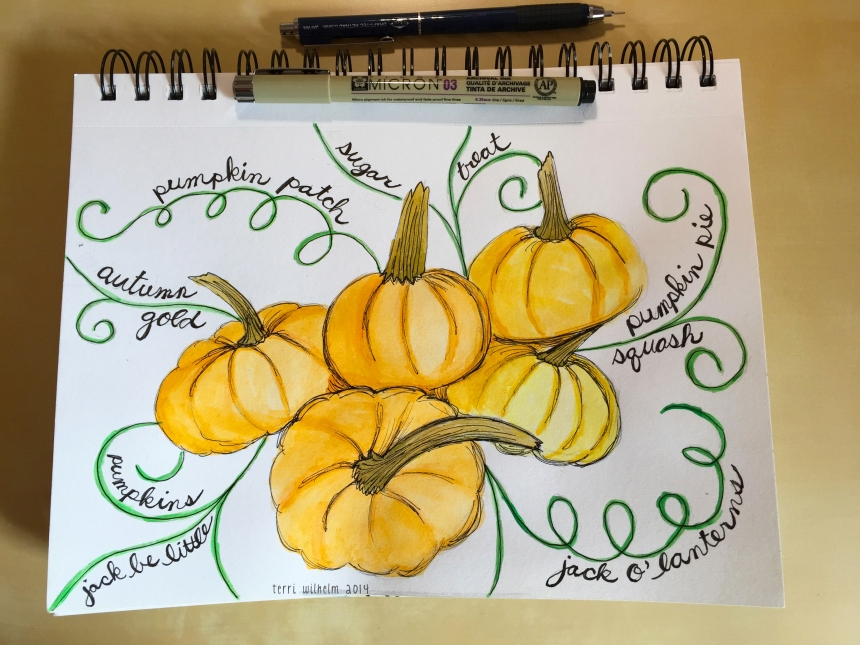 sketchbook pumpkins