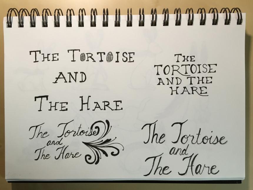 sketchbook tortoise hand lettering