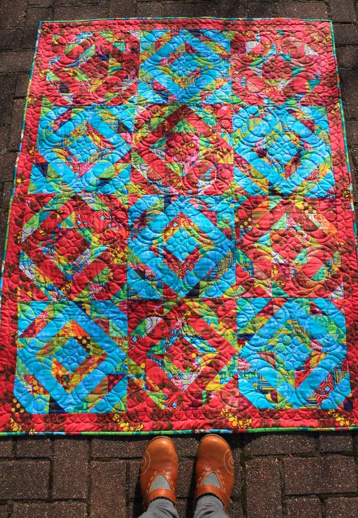 garden party quilt top