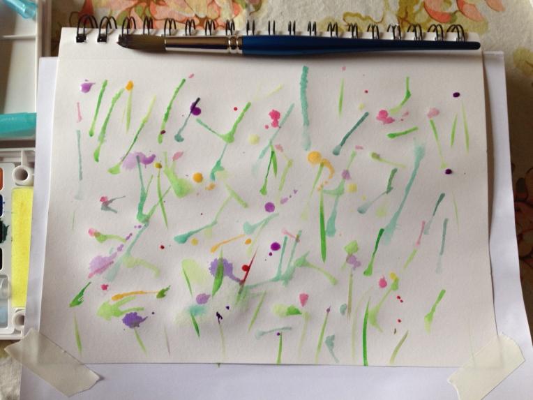 sketchbook streaks and splatters