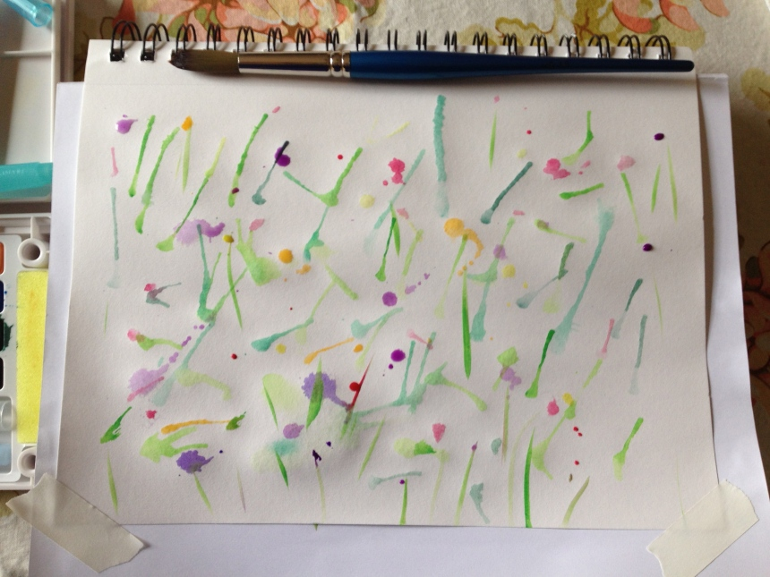 sketchbook streaks and splatters