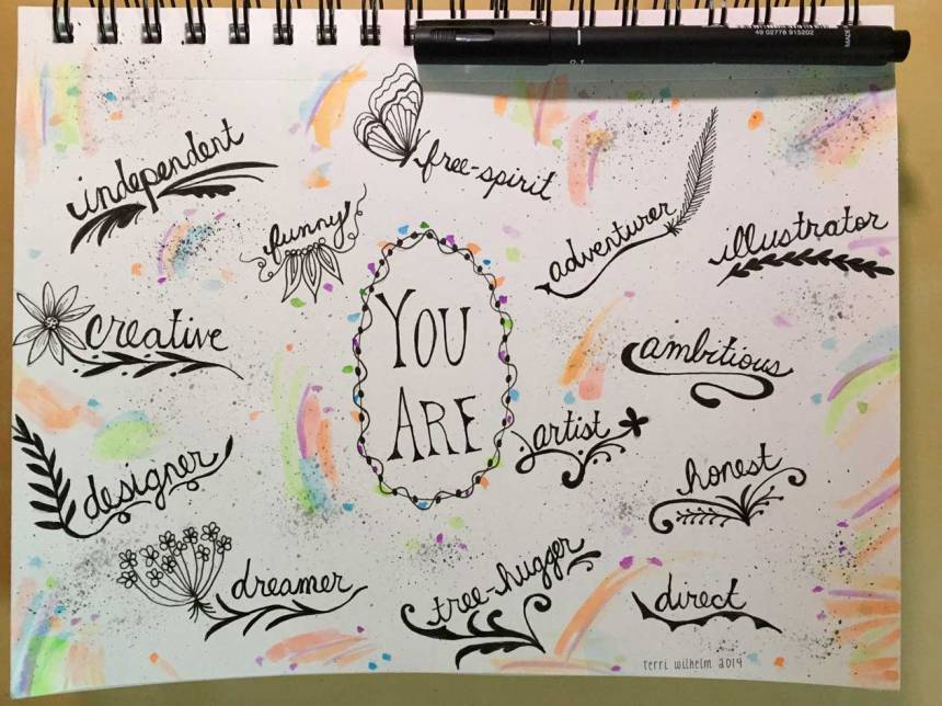 sketchbook page You Are