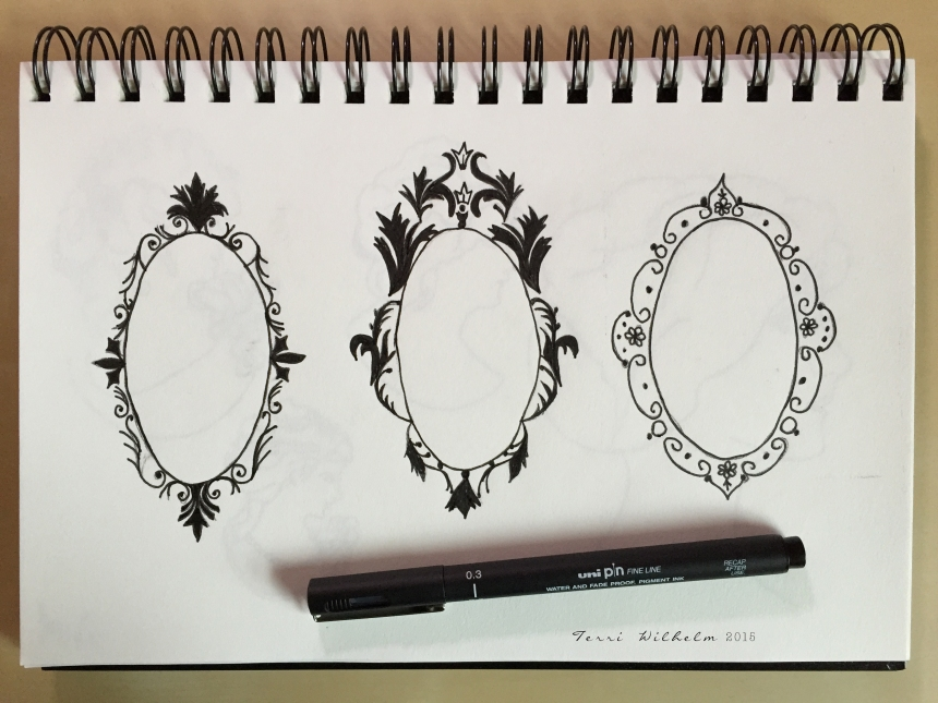 sketchbook fancy frames