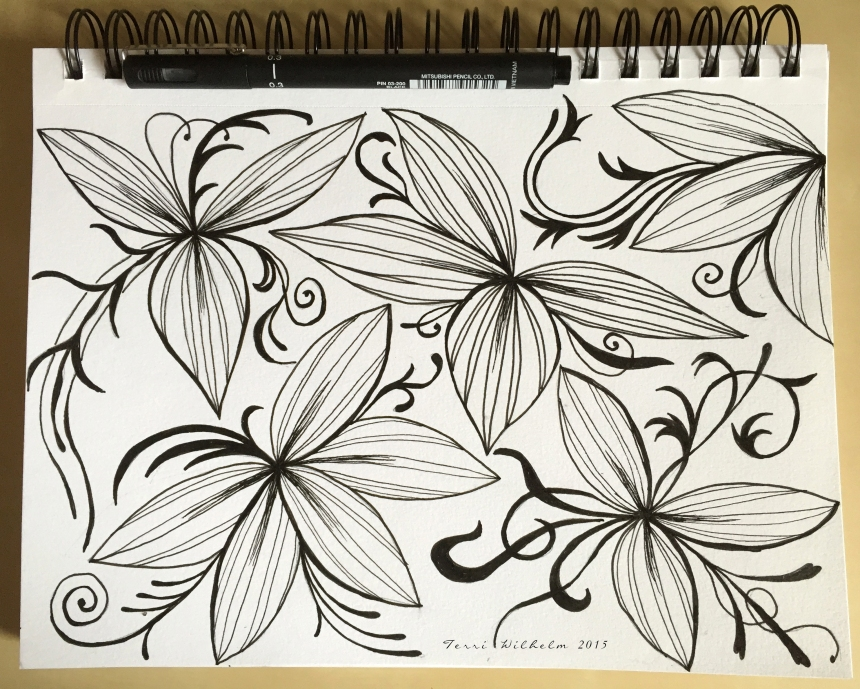 sketchbook tiny plants