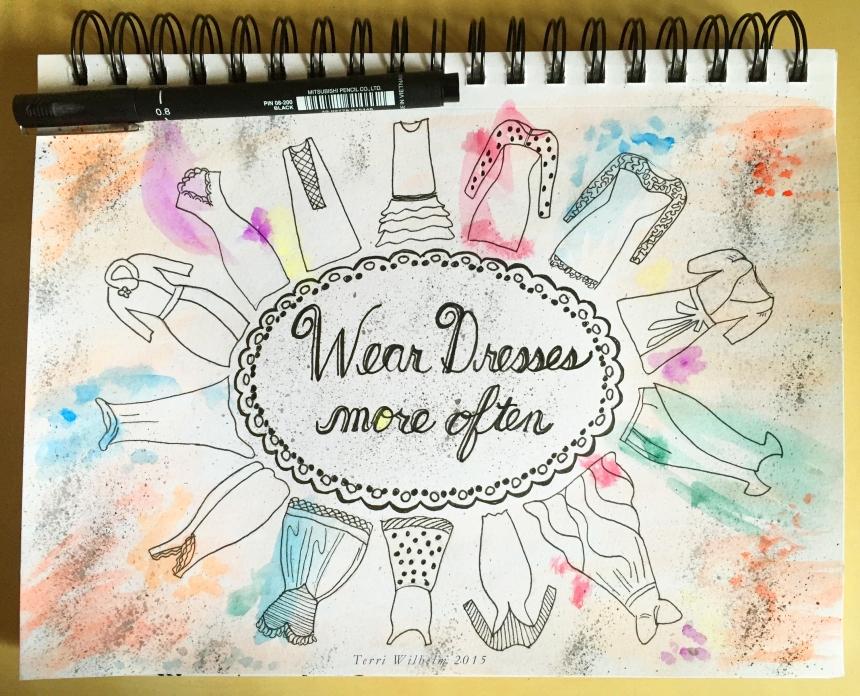 sketchbook page wear dresses