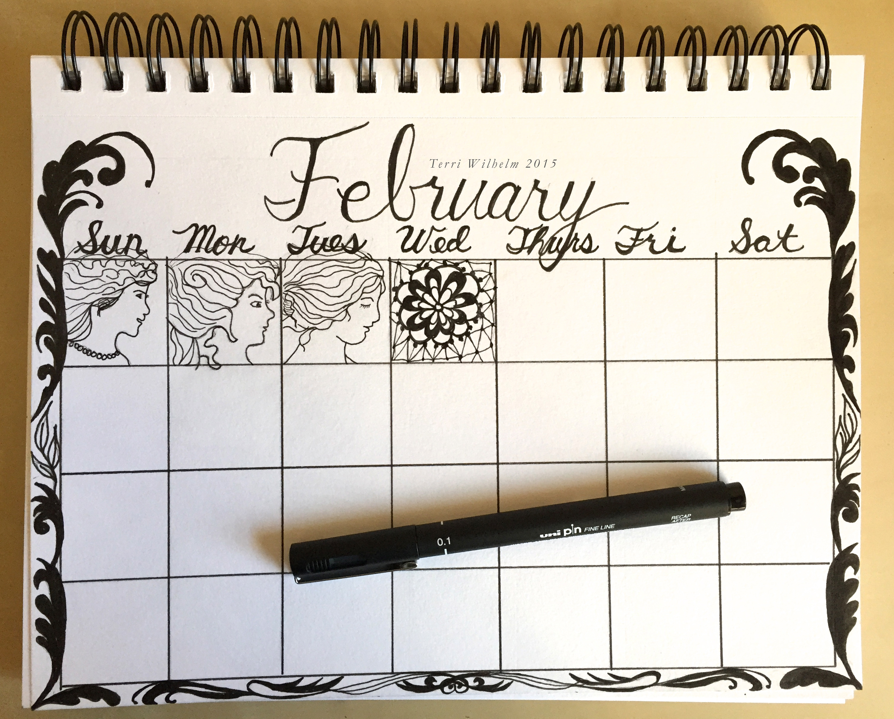 Calendar Drawing Ideas : From my sketchbook january and february doodles terri s