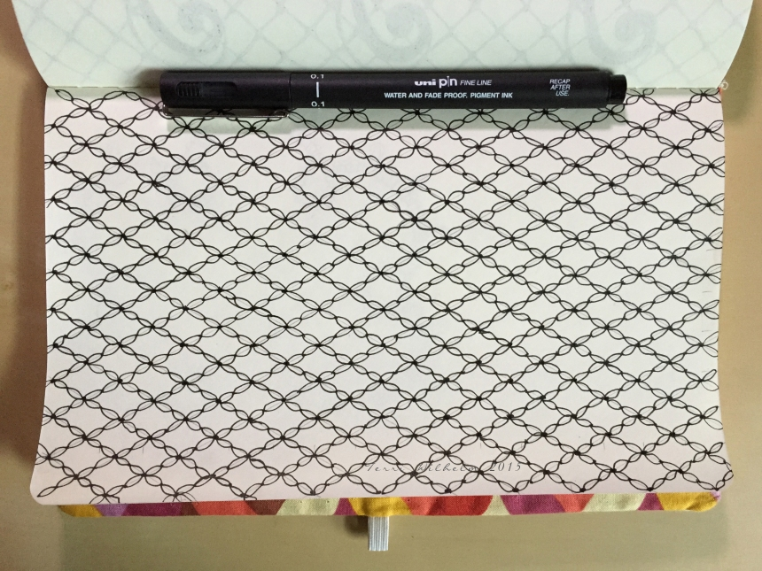 sketchbook fishnet background