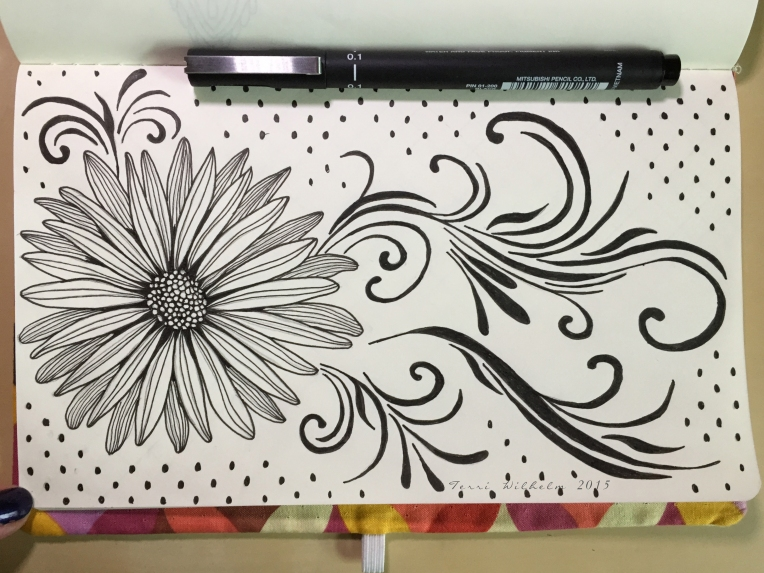 sketchbook fresh cut daisy