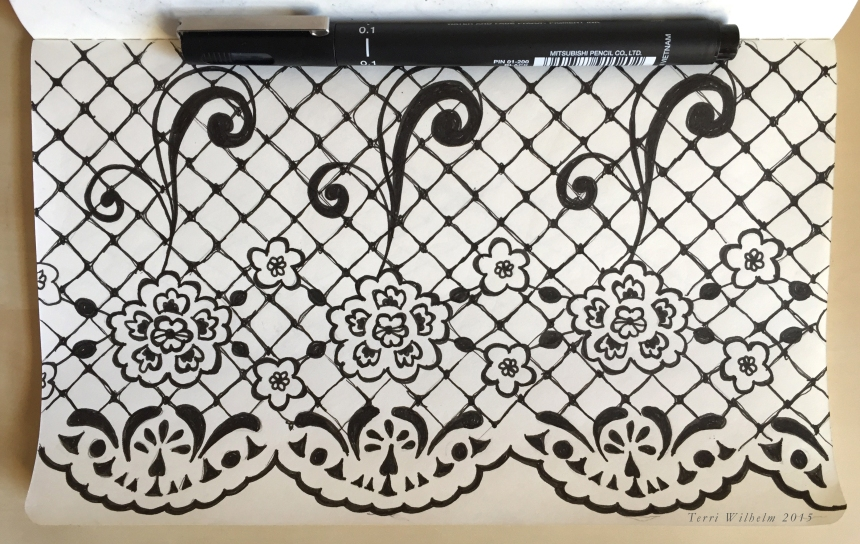 sketchbook page lace pattern