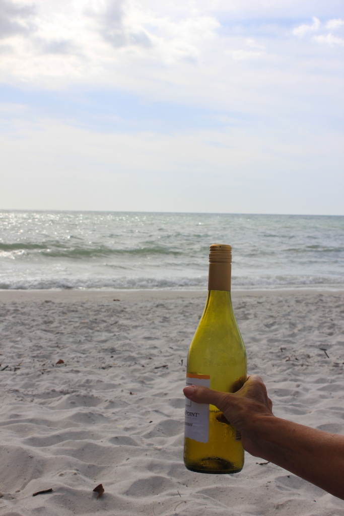 wine on the beach
