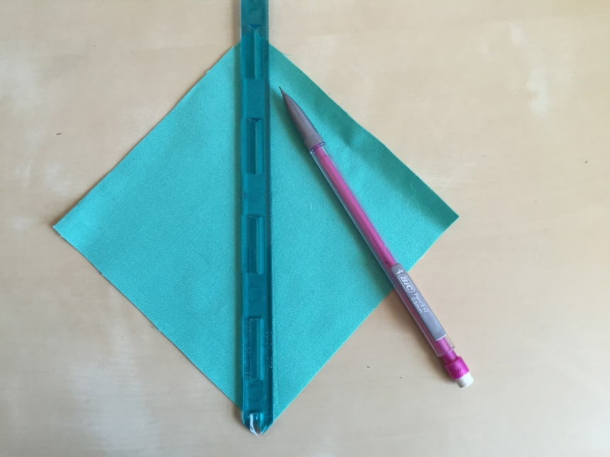 using a quilters quarter ruler