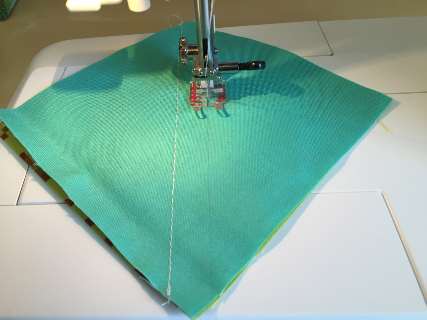 sewing a half square triangle