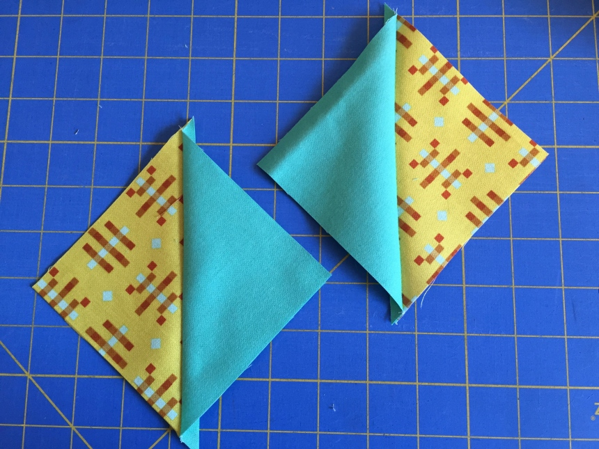 a pair of half square triangles