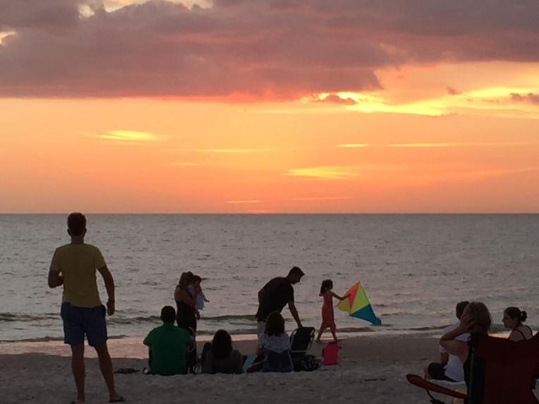 sunset in Naples