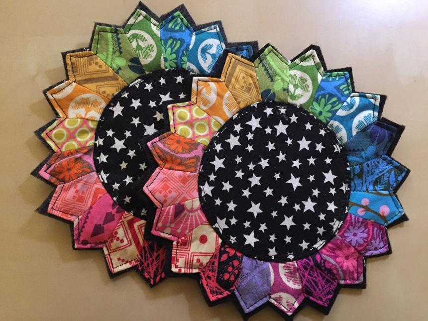 dresden color wheel mug rugs