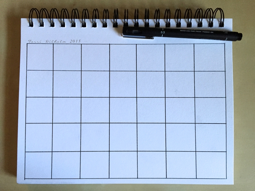 sketchbook page monthlytemplate
