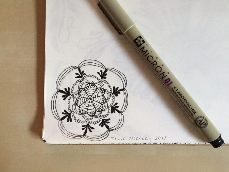 sketchbook doodle lacey medallion