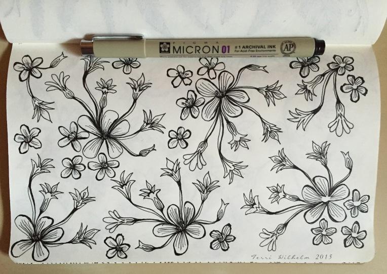 sketchbook-mini flowers