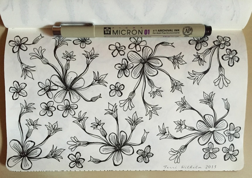 sketchbook-mini flowers
