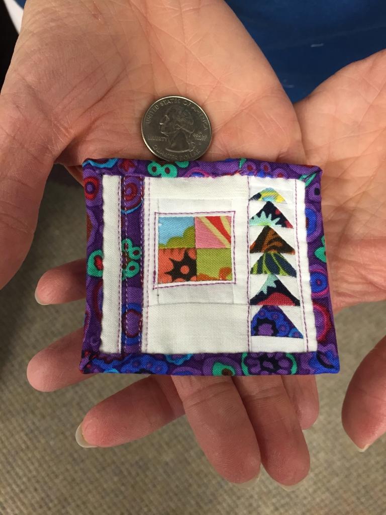 Doris' micro quilt