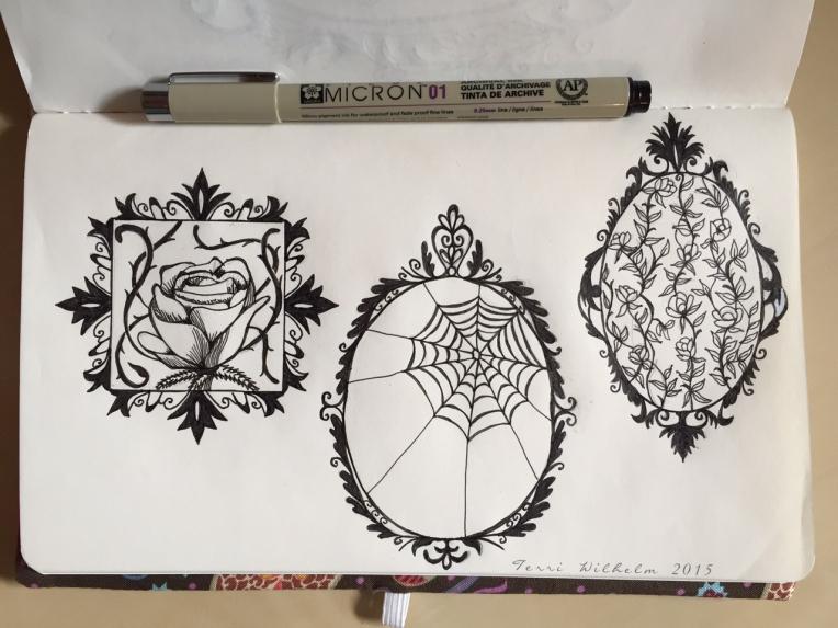 sketchbook page 3 fancy frames