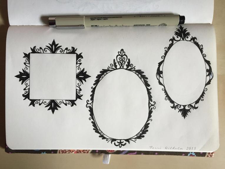 sketchbook fancy frames