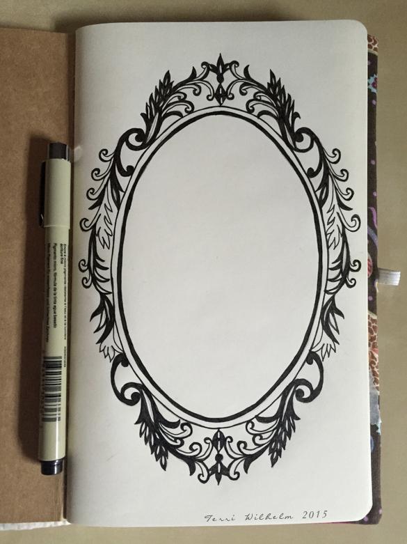 sketchbook  page 1 fancy frame