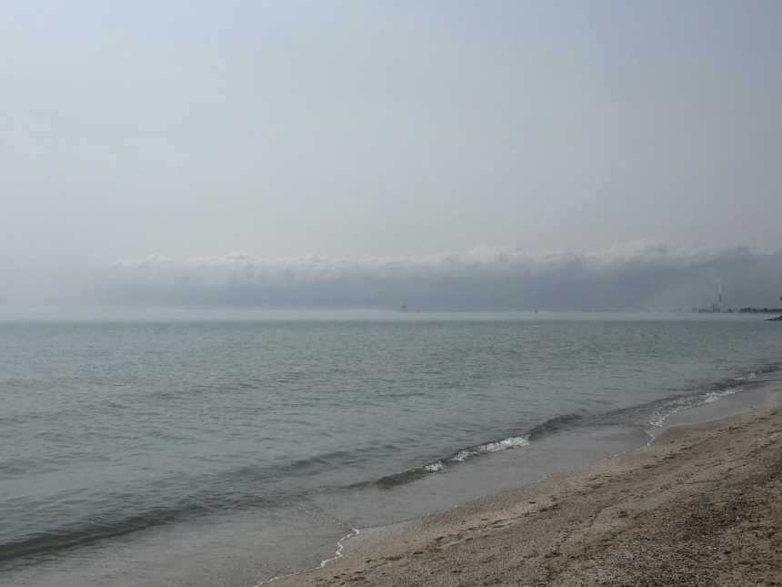 fog at Bradford Beach