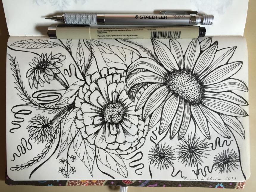 sketchbook page fresh cut inspiration