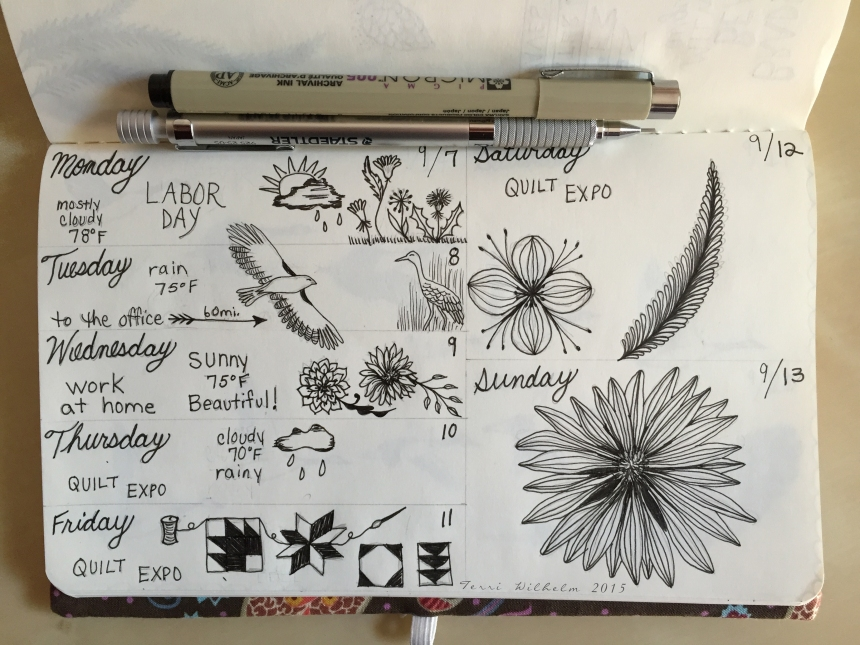 sketchbook journal page