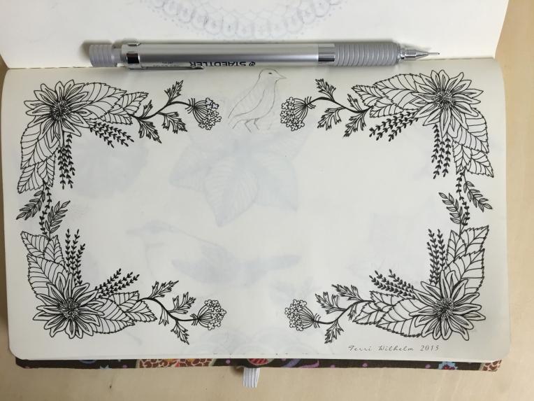 sketchbook sunflower frame