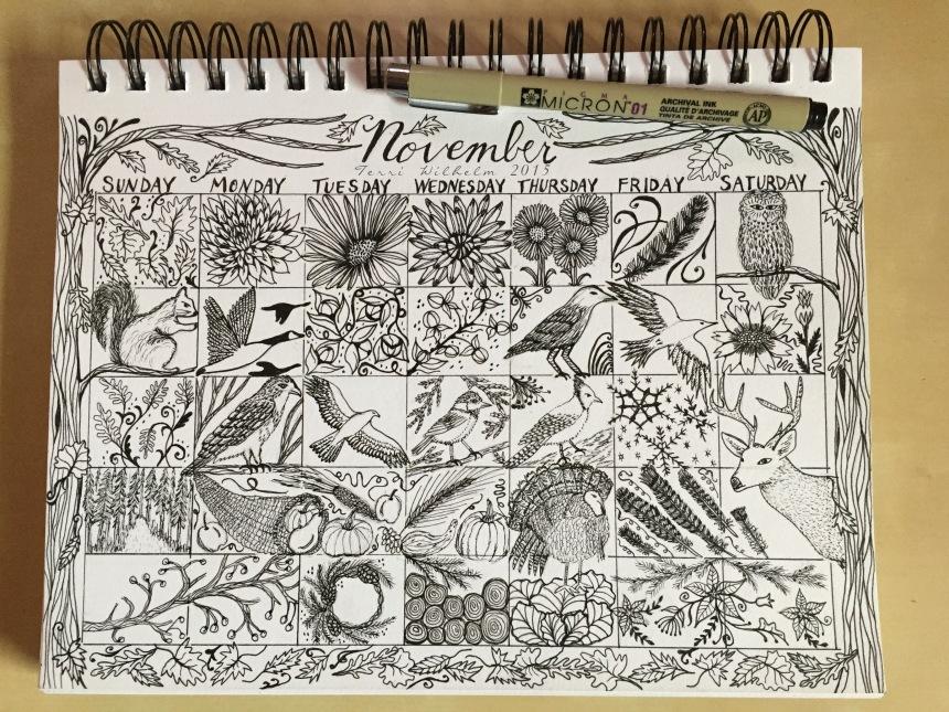 sketchbook page ovember dooodles