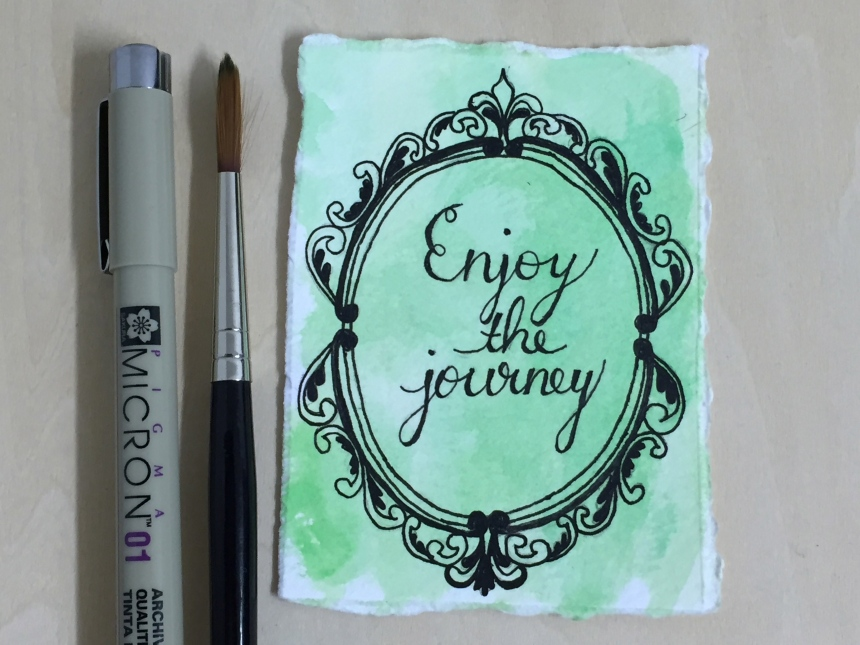 Enjoy the Journey tiny art