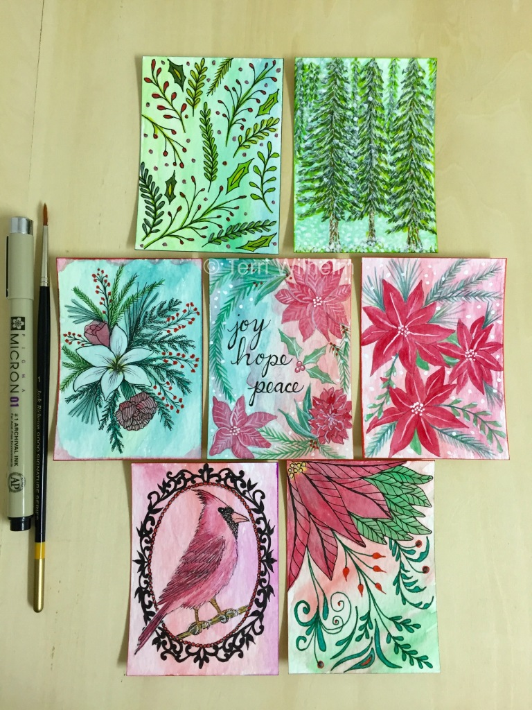 tiny art christmas set