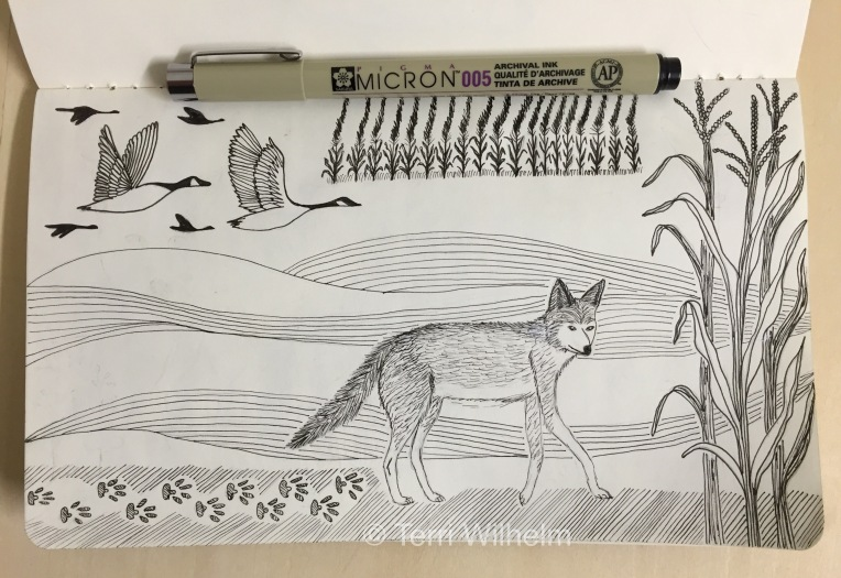 sketchbook page: on the move