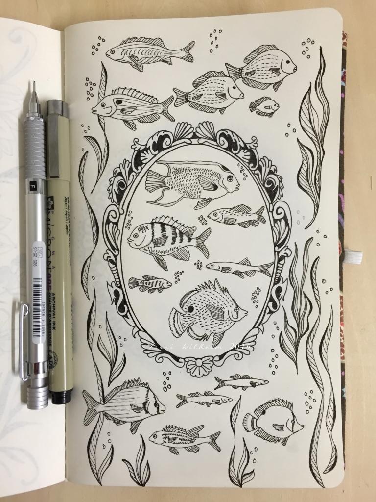 fancy frame fish specimens