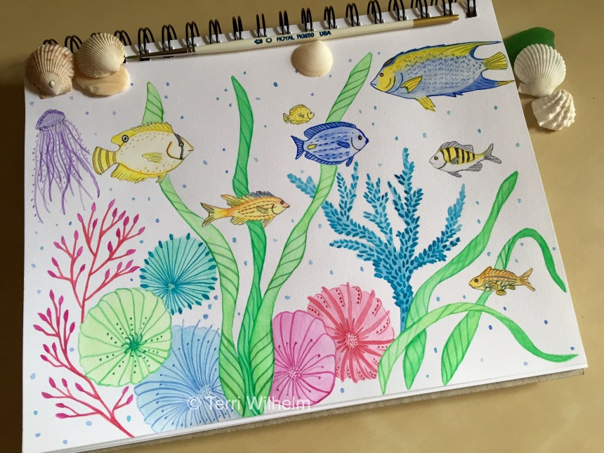 Week 13 Sketchbook of Coral Reef