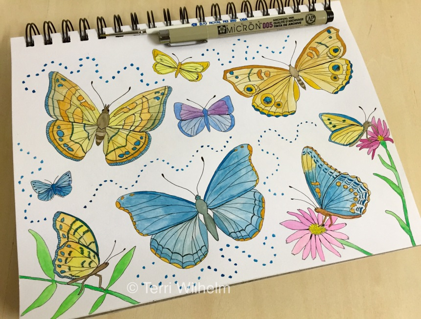 week 23 animal art butterflies
