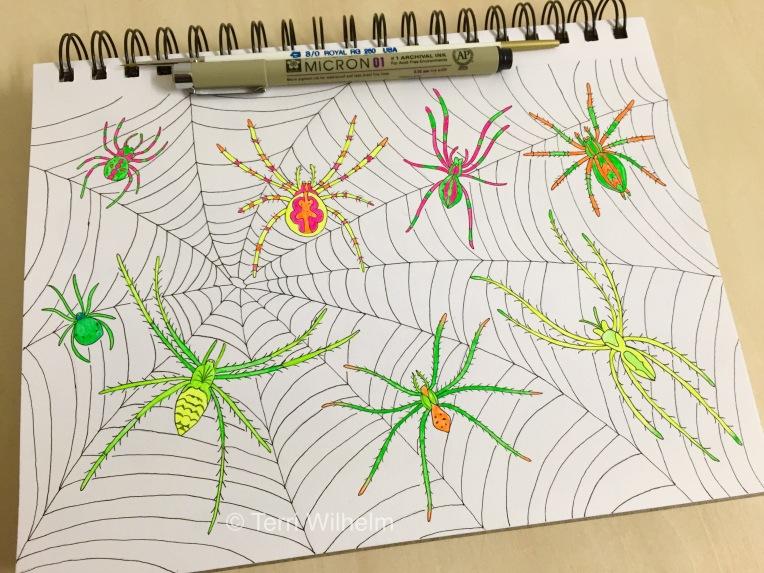 week 24 animal art spiders