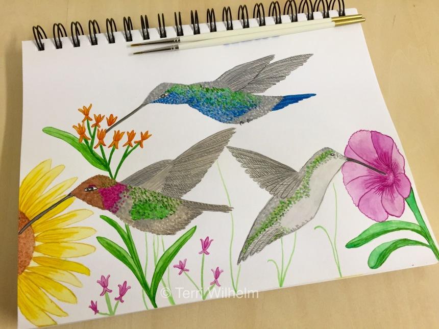 week 29 animal art hummingbirds