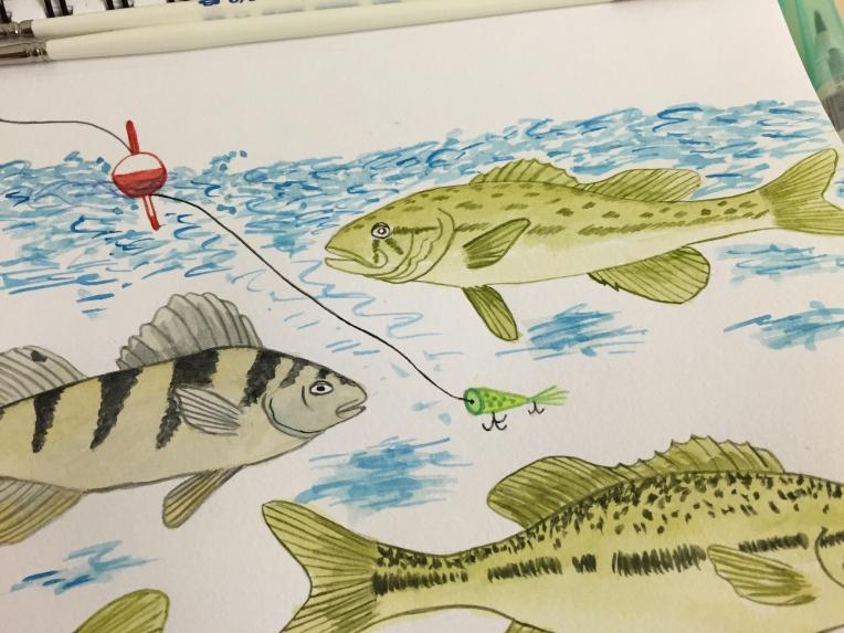 week 32 animal art fish closeup