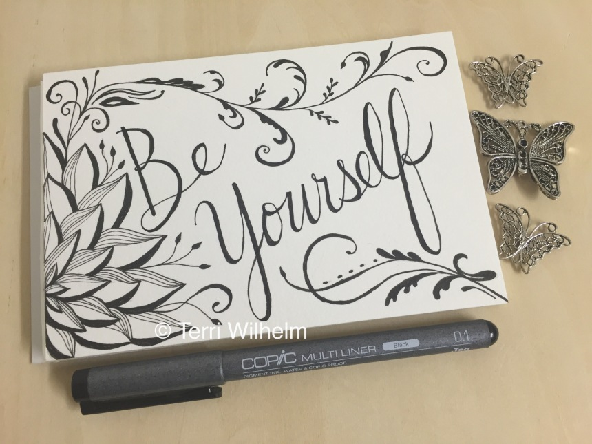 Be Yourself postcard