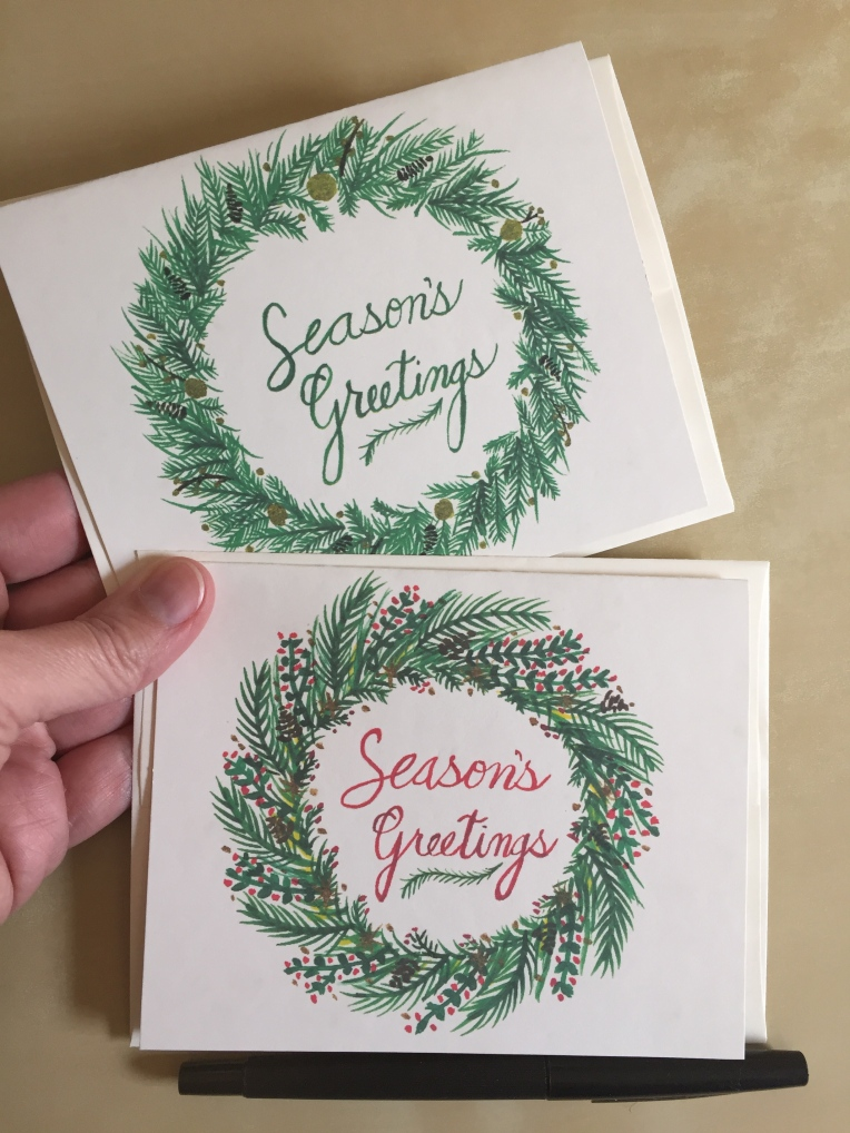Season's Greetings notecards