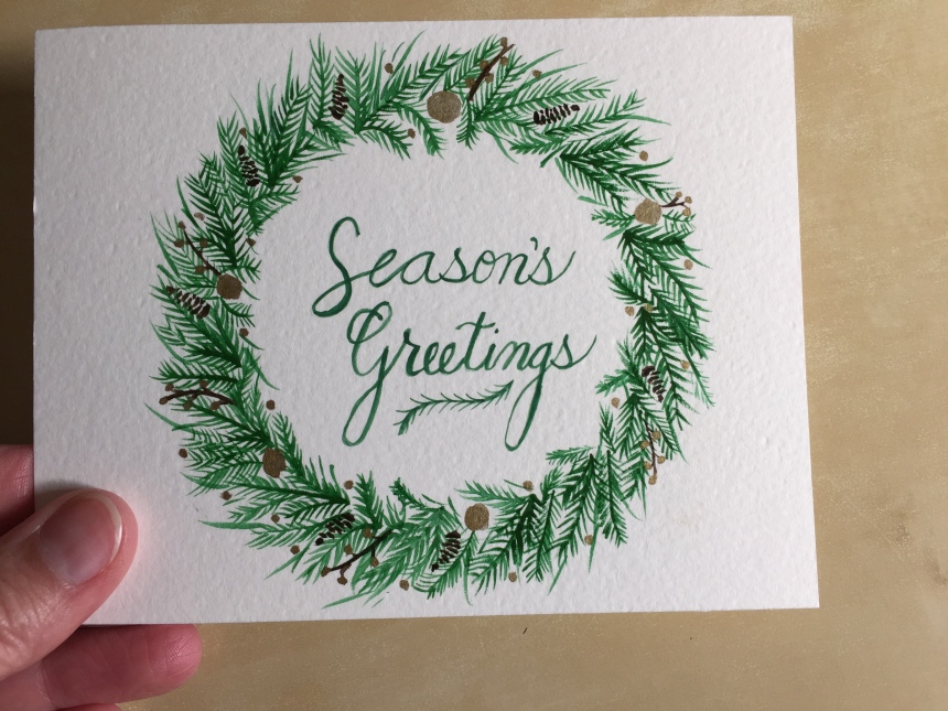 Season's Greetings painting