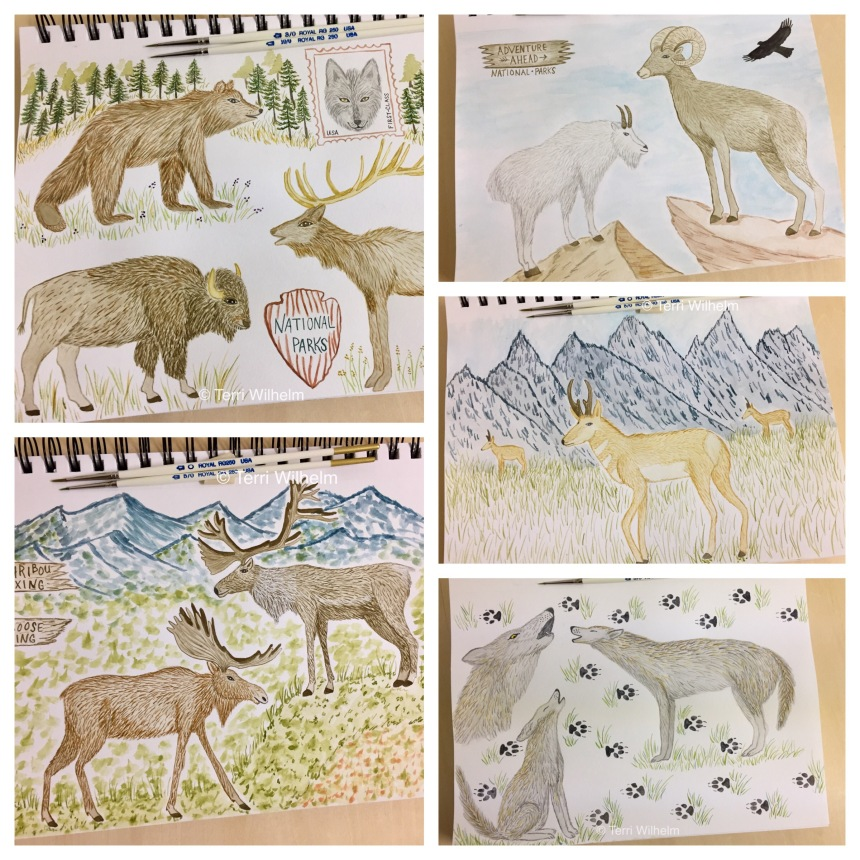 October animal art series